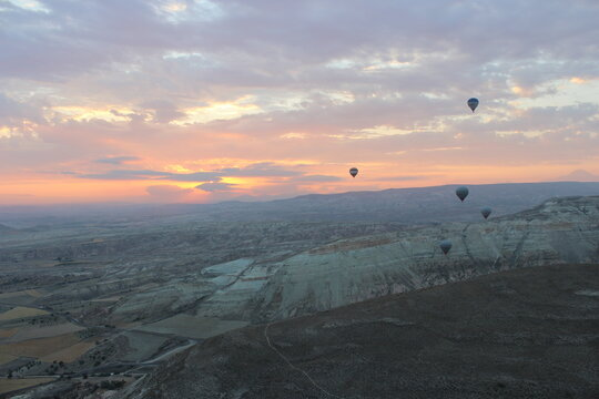 balloons and a beautiful sunrise