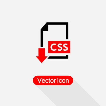 Download CSS File Icon Vector Illustration Eps10