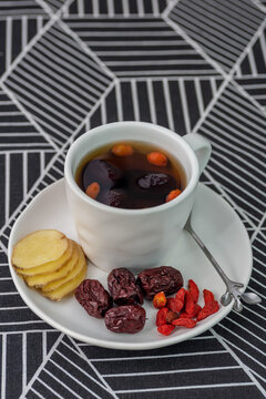 Chinese dried red date, Jujube and  ginger tea