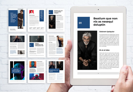 Clean Ebook Layout with Blue Accents