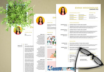 Resume, Cover Letter and Portfolio Layout