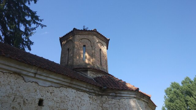 The tower of the monastery from the last century