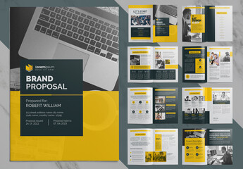 Brand Proposal Business Brochure with Clean Layout