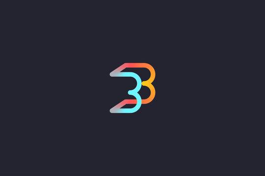 Technology Letter B Logo Abstract Whimsical Monogram
