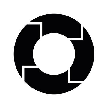 4 arrows in circle