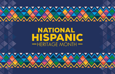 Fototapeta hispanic and latino americans culture, national hispanic heritage month in september and october, background or banner vector illustration design obraz