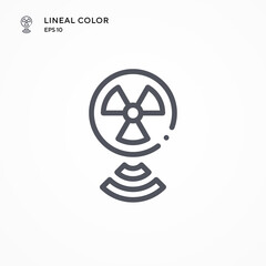 Radiotherapy special icon. Modern vector illustration concepts. Easy to edit and customize.