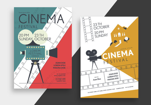 Cinema Festival Poster Layout