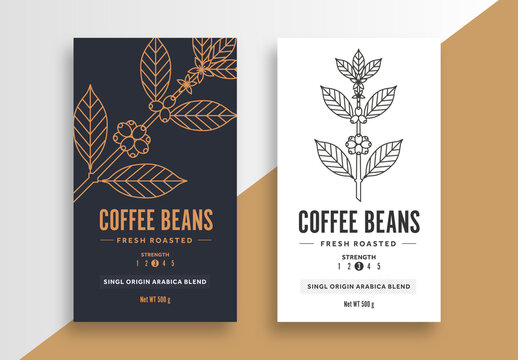 Coffee Label Layout