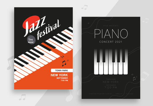 Jazz and Piano Poster Layout