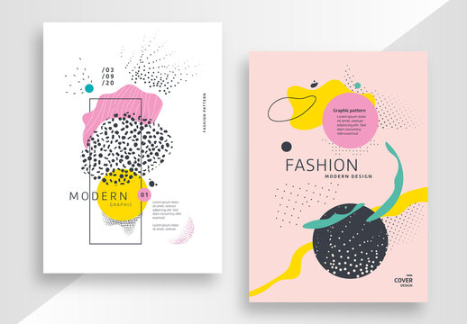 Modern Poster Layouts with Abstract Elements