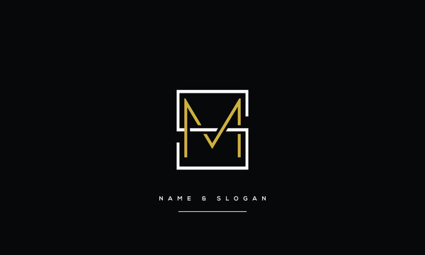 SM,MS ,S,M Abstract Letters Logo Monogram