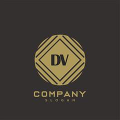 DV Premium monogram letter initials logo. minimalist symbol icon vector design. Luxury logotype.