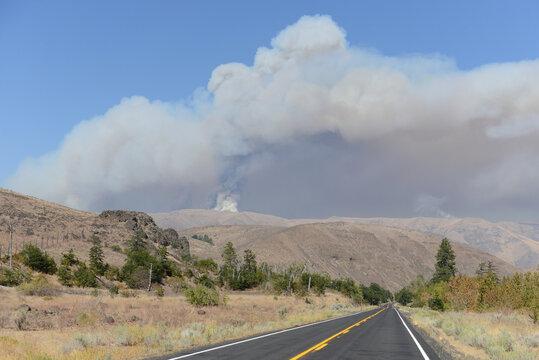 Evans Canyon fire, Washington 2020