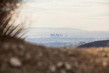 Unique view of downtown Los Angeles.