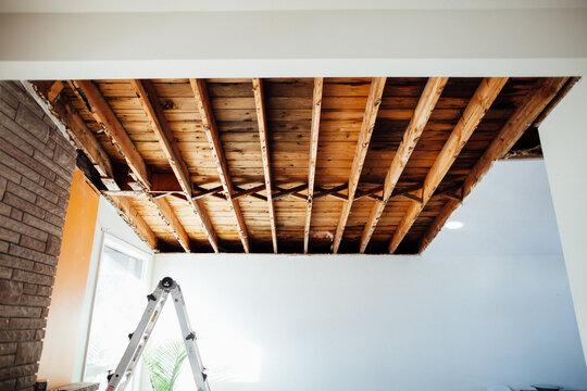 Indoor leaking roof repair
