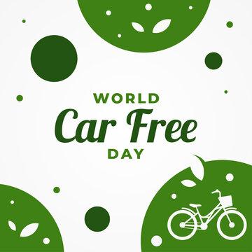 World Car Free Day Vector Design Illustration