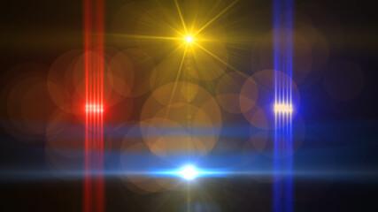 Digital lens light flare in space
