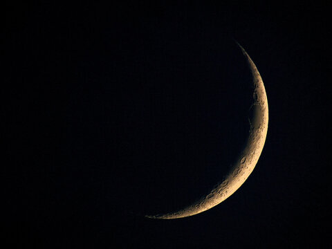 Breathtaking shot of the new moon