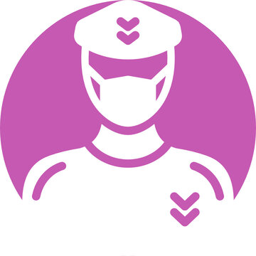 Sergeant Wearing mask Vector Icon which can easily modify or edit