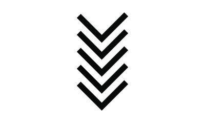 arrow icon on white background, vector symbol