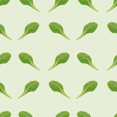 Salatblatt, nahtloses Hintergrundmuster