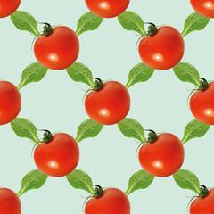Tomate, Salat, nahtloses Hintergrundmuster