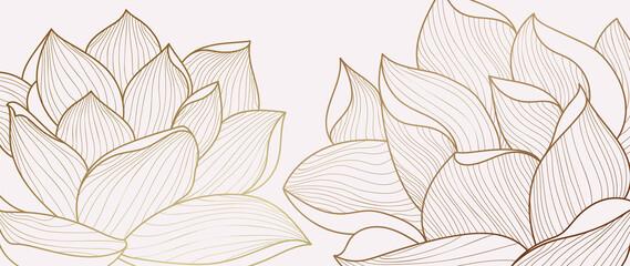 Luxury wallpaper design template. Design for packaging design, social media post, cover, banner, creative post, Gold geometric pattern design vector