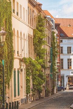 Typical little street in Brussels