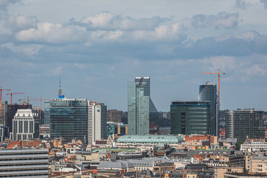 View from above over city of Brussels