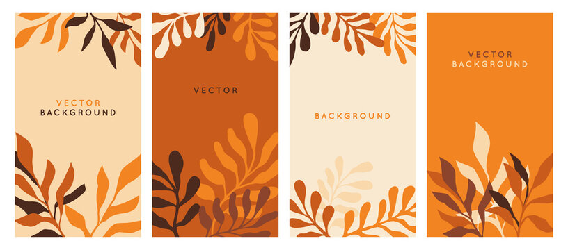 Vector  horizontal abstract background with copy space for text - autumn sale - bright vibrant banner, poster, cover design template, with yellow and orange leaves