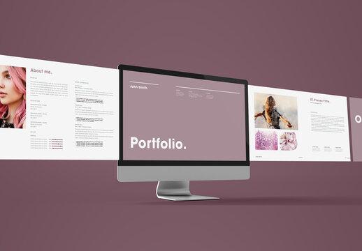 Purple Style Minimal Portfolio and Resume