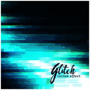blue glitch vector background for data crash