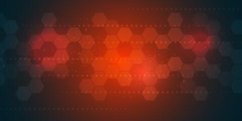 futuristic hexagonal technology background