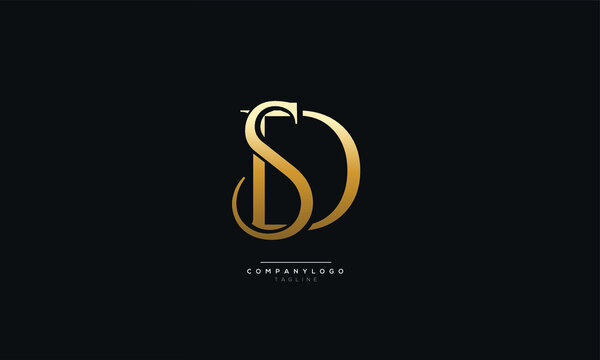 SD or DS Letter Business Logo Design Alphabet Icon Vector Symbol