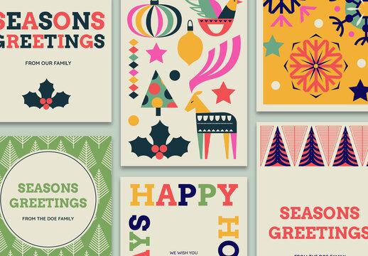 Seasons Greetings Social Media Set