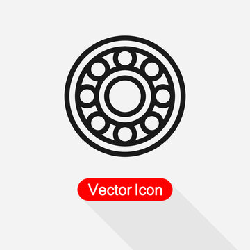 Ball Bearing Icon Vector Illustration Eps10
