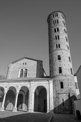 Ravenna - The portal of church Basilica of Sant Apolinare Nuovo.