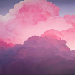Papiers peints Rose banbon clouds in the sky