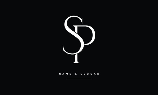 SP ,PS ,S ,P  Abstract Letters Logo Monogram