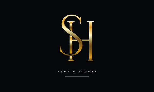 SH,HS ,S ,H  Abstract Letters Logo Monogram
