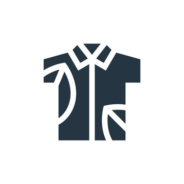 hawaiian shirt icon. Glyph hawaiian shirt icon for website design and mobile, app development, print. hawaiian shirt icon from filled summer collection isolated on white background..