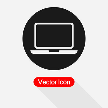 Lap Top Icon, Computer Icon Vector Illustration Eps10