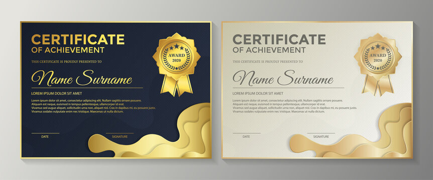 achievement certificate best award diploma