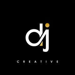 DJ Letter Initial Logo Design Template Vector Illustration