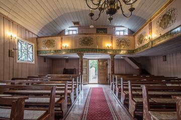 Obraz Kościół Narodzenia NMP, Grzmiąca, pow. wałbrzyski, woj. dolnośląskie - wnętrze - fototapety do salonu