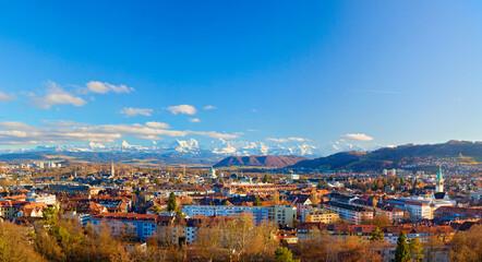 Panorama von Bern und die Alpen, Schweiz