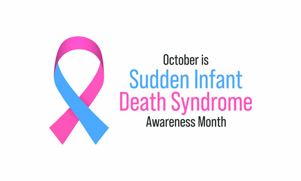 Vector illustration on the theme of Sudden infant death syndrome (SIDS) awareness month observed each year during October.