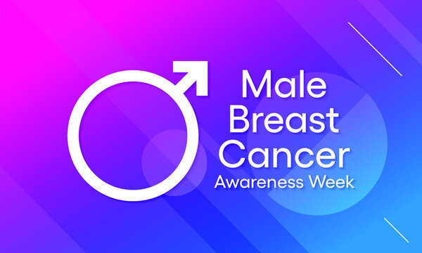 Vector illustration on the theme of Male breast Cancer awareness week observed each year during 3rd week of October.