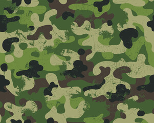 Seamless trashy camouflage repeat pattern
